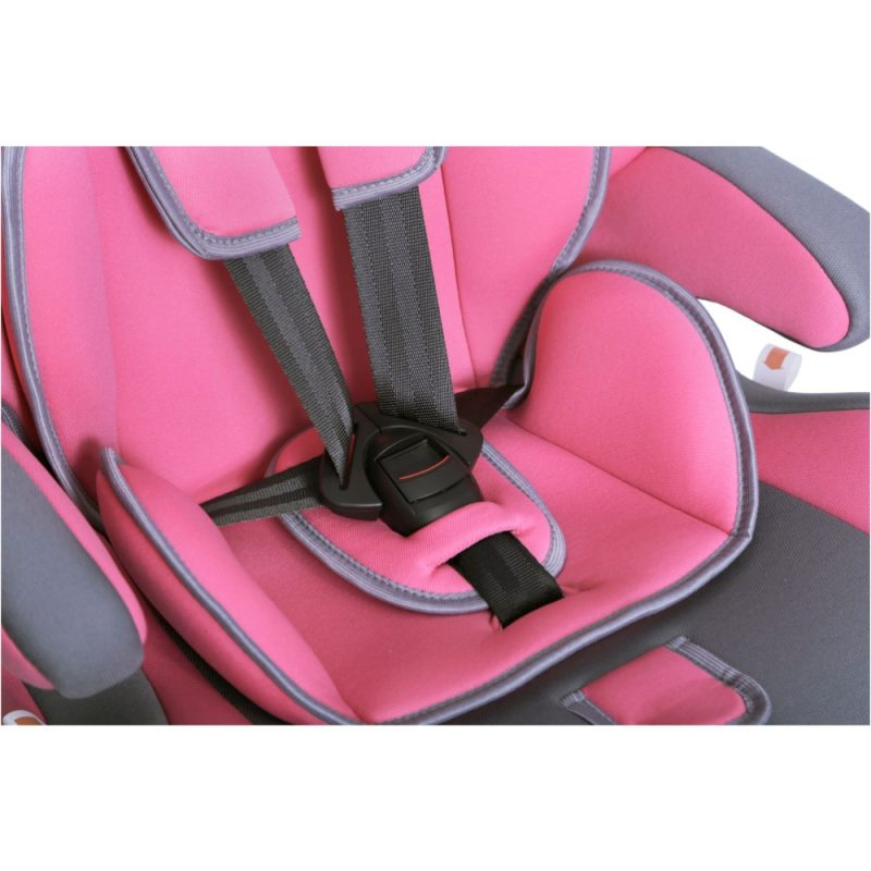 Seguro Bebe Bravo Isofix Pink on Grey 8