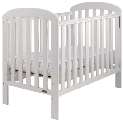 East Coast Anna Dropside Cot - White