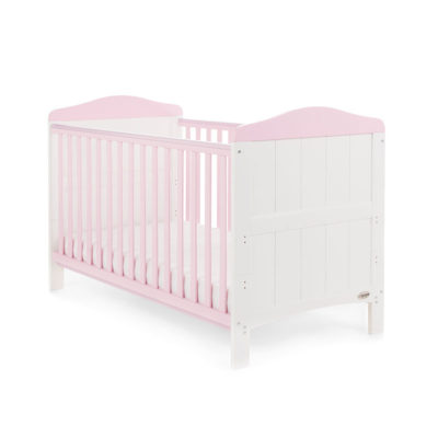Obaby Whitby Cot Bed - White with Eton Mess