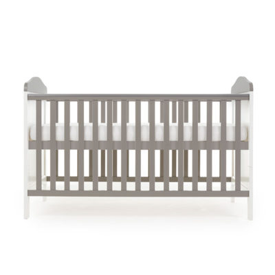 Obaby Whitby Cot Bed - White with Taupe Grey 2