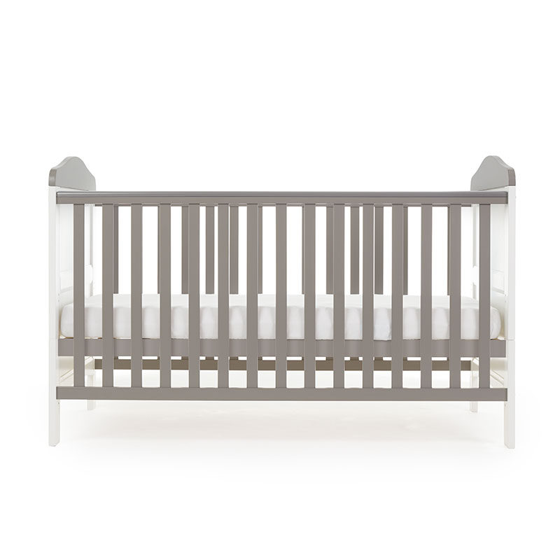 Obaby Whitby Cot Bed - White with Taupe Grey 3