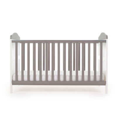 Obaby Whitby Cot Bed - White with Taupe Grey 4