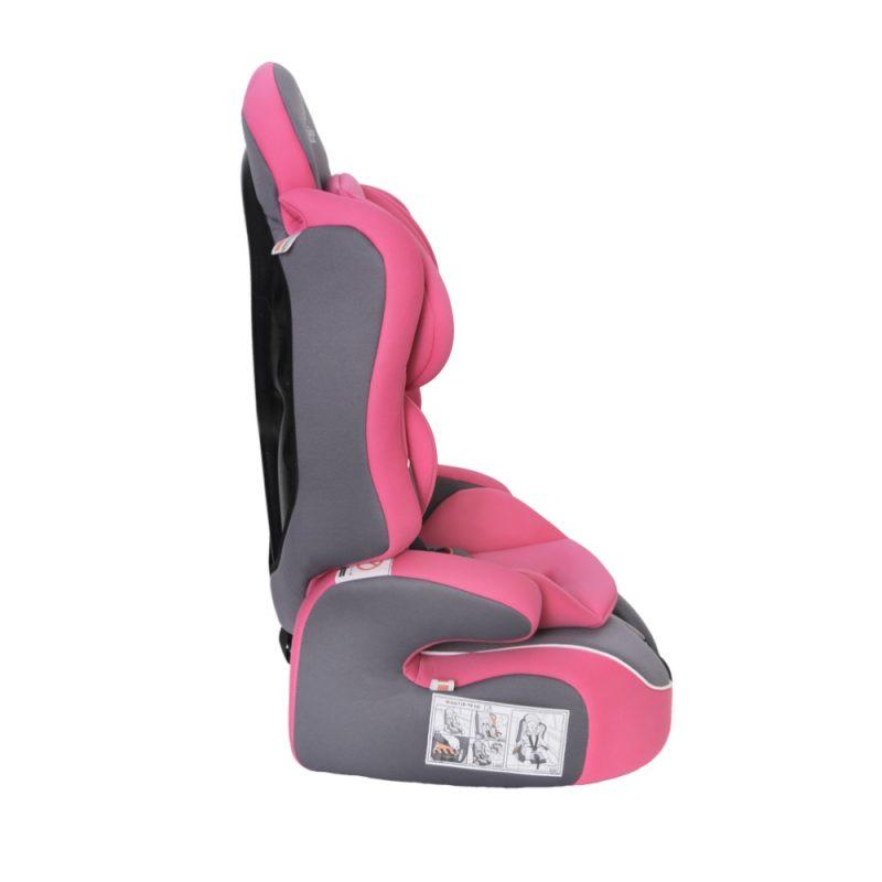 Seguro Bebe Lima Pink on Grey 3