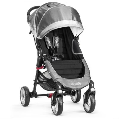 baby jogger city mini single 4 wheel steel grey