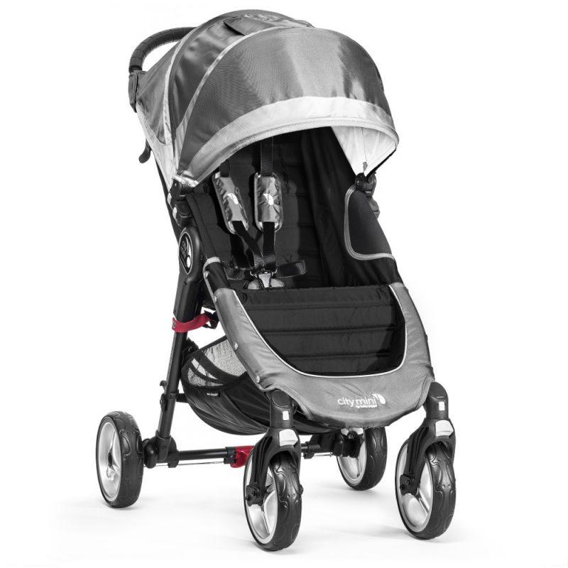 baby jogger city mini single 4 wheel steel grey