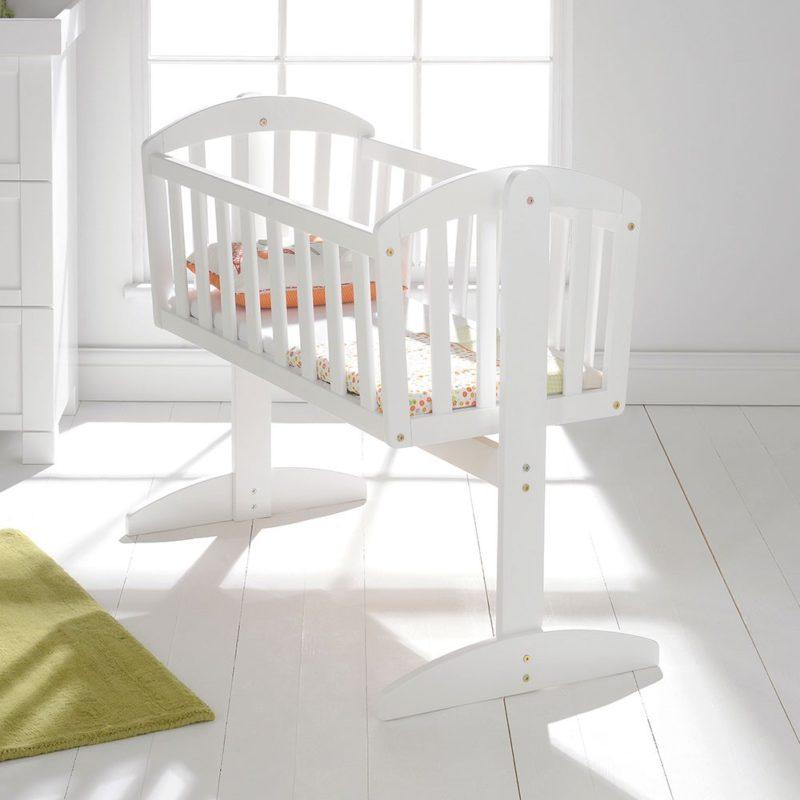 East Coast Vienna Swinging Crib - White