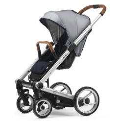 mutsy i2 urban nomad stroller white and blue silver frame