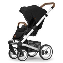 mutsy nio north stroller black silver chassis