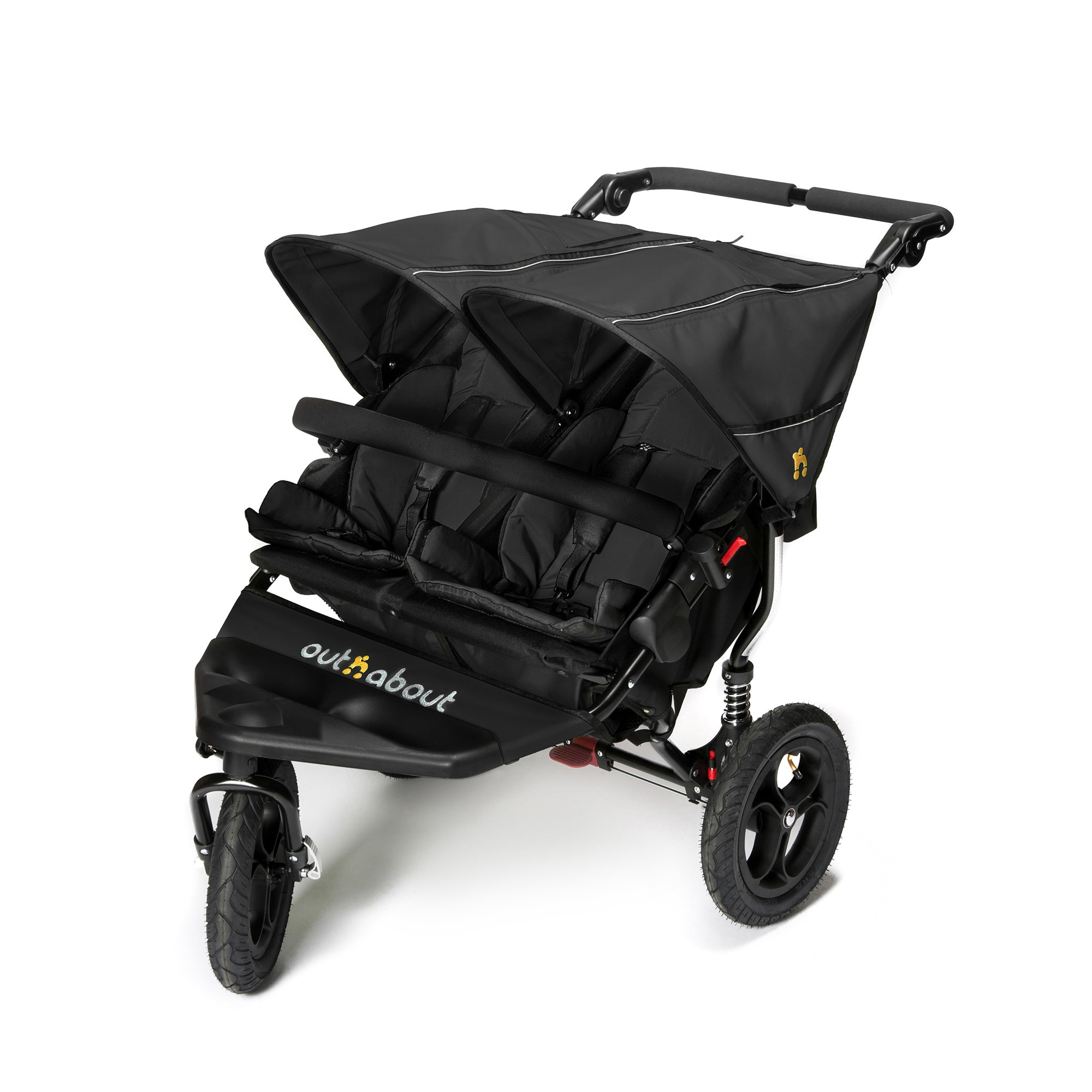 Out n About Nipper Single V4 with Tyre Pump Raven Black