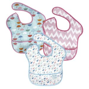 Hippychick Bumkins Super Bib Packs - Umbrella, Raindrop, Pink Chevron