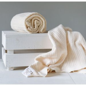 Abeille Cellular Blanket - Cream
