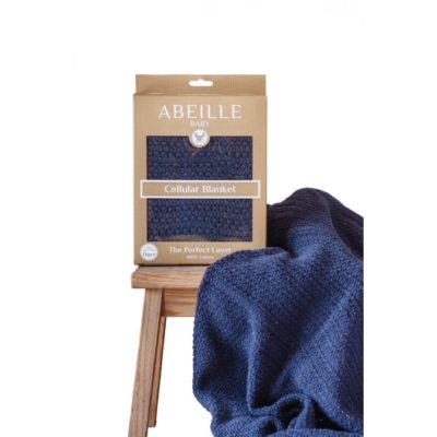 Abeille Cellular Blanket - Navy
