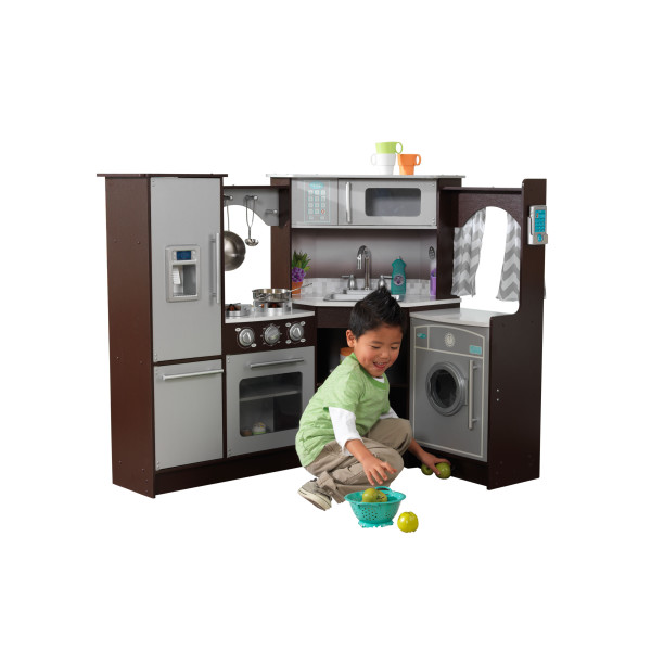 KidKraft Ultimate Corner Play Kitchen with lights and sound1
