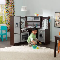 KidKraft Ultimate Corner Play Kitchen with lights and sound2