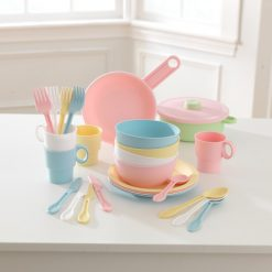 Kidkraft 27 Piece Cookware Playset - Pastel