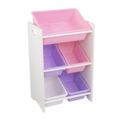 Kidkraft 5 Bin Storage Unit - PastelWhite