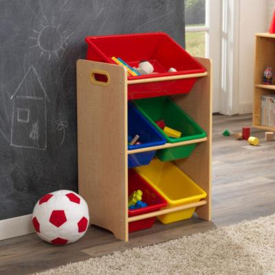 Kidkraft Primary & Natural 5 Bin Storage Unit