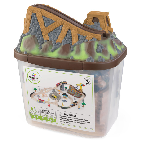 Kidkraft Bucket Top Construction Train Set4