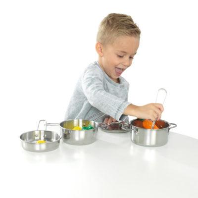 Kidkraft Deluxe Metal Cookware Set - Pots, Pans & Play Food Set1