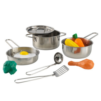 Kidkraft Deluxe Metal Cookware Set - Pots, Pans & Play Food Set3
