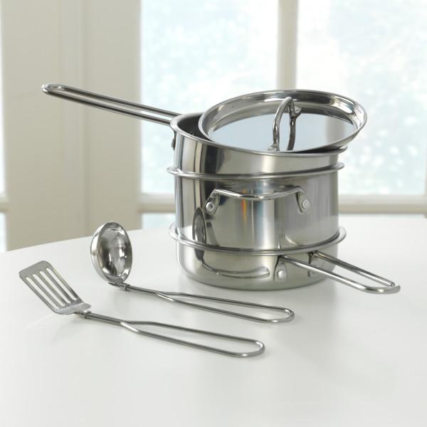 Kidkraft Deluxe Metal Cookware Set - Pots, Pans & Play Food Set5