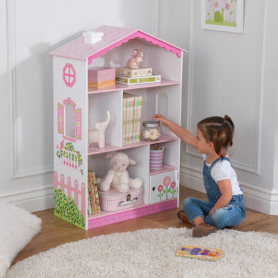 Kidkraft Dollhouse Cottage Bookcase2