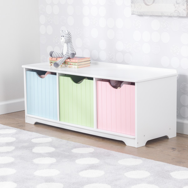 Kidkraft Nantucket Storage Bench Pastel1