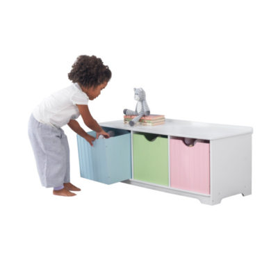 Kidkraft Nantucket Storage Bench Pastel2