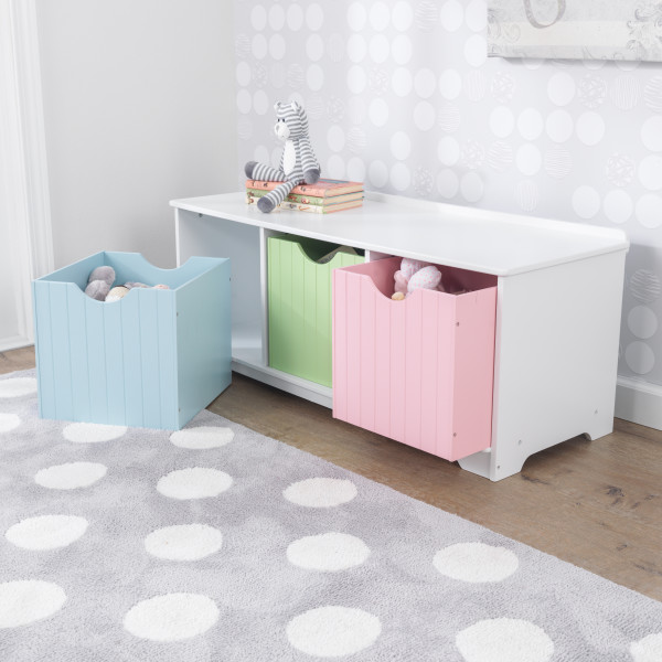 Kidkraft Nantucket Storage Bench Pastel5