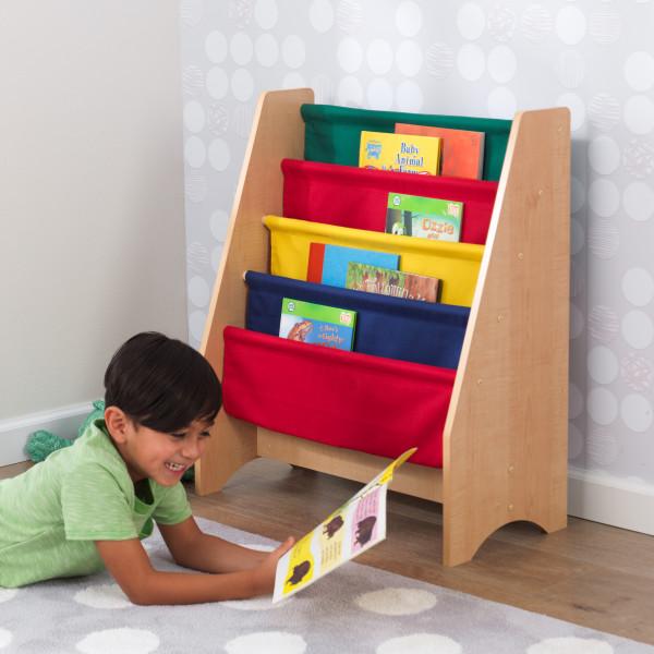 Kidkraft Primary Sling Bookshelf1