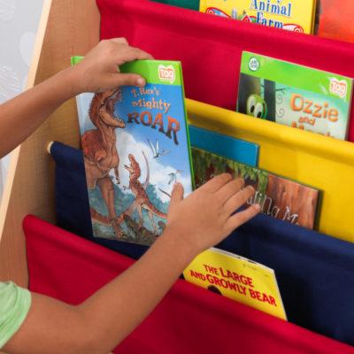 Kidkraft Primary Sling Bookshelf3