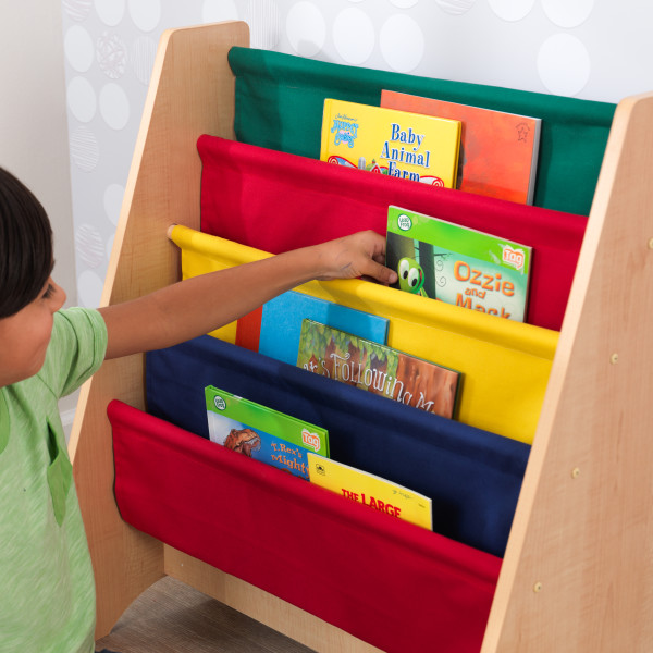 Kidkraft Primary Sling Bookshelf4