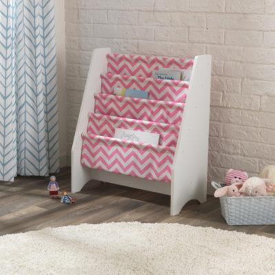 Kidkraft Pink/White Sling Bookshelf