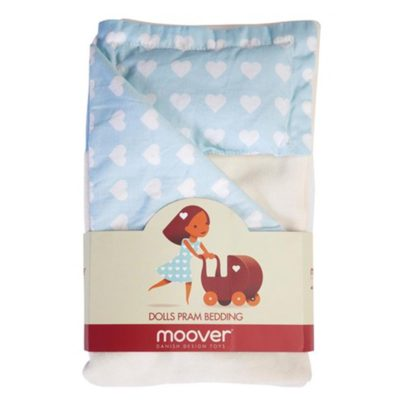 Moover Pram Bedding Set Blue