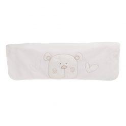 Obaby B is for Bear Appliqued Fleece Blanket - White
