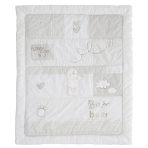 Obaby B is for Bear Quilt and Bumper - White