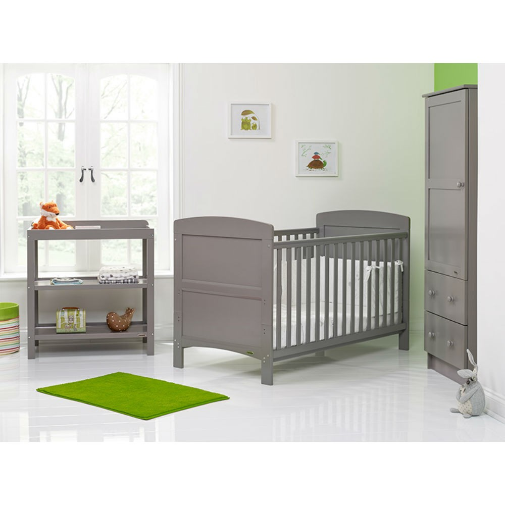 Obaby Grace 3 Piece Room Set Taupe Grey Baby And Child Store