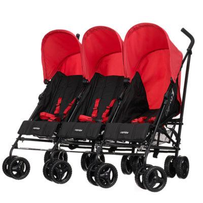 Obaby Mercury Triple Stroller - Blackred