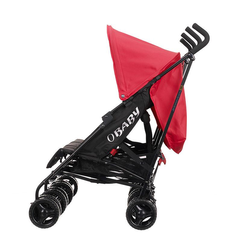 Obaby Mercury Triple Stroller - Blackred 5