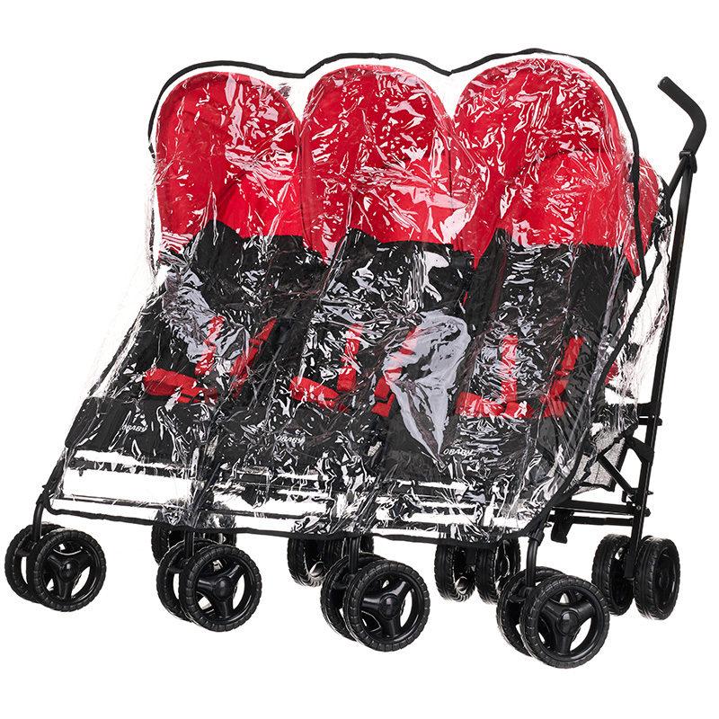 Obaby Mercury Triple Stroller - Blackred 7