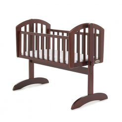 Obaby Sophie Swinging Crib and Mattress - Walnut