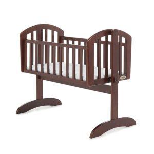 Obaby Sophie Swinging Crib and Mattress - Walnut