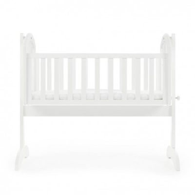 Obaby Sophie Swinging Crib and Mattress - White 2