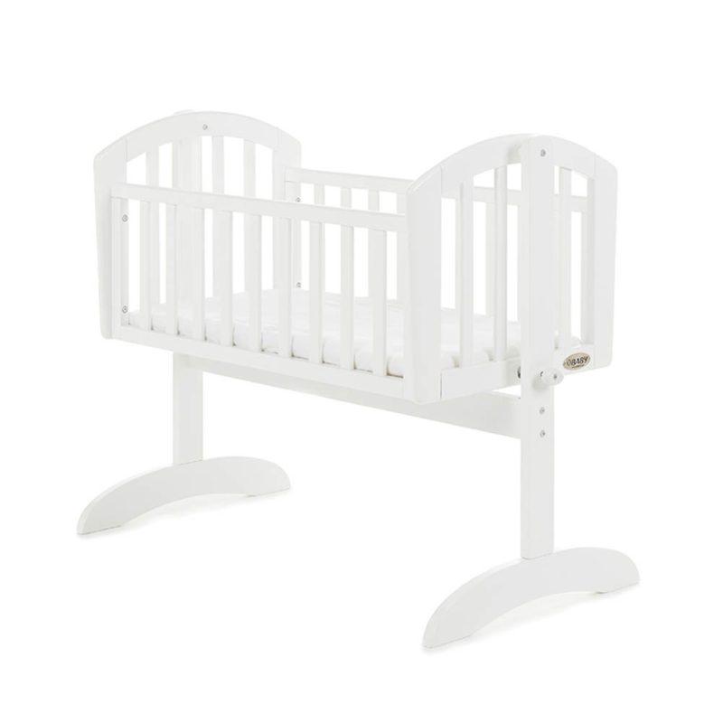 Obaby Sophie Swinging Crib & Mattress White