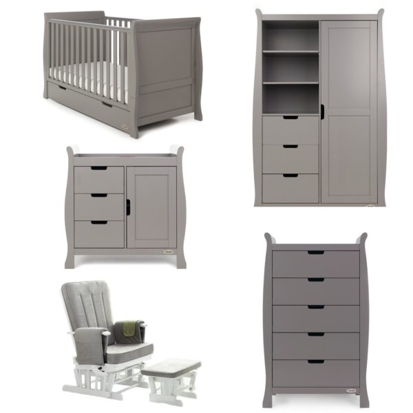 Obaby Stamford Classic 5 Piece Room Set - Taupe Grey