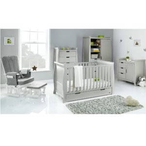 Obaby Stamford Classic 5 Piece Room Set - Warm Grey