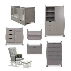 Obaby Stamford Classic 7 Piece Room Set - Taupe Grey
