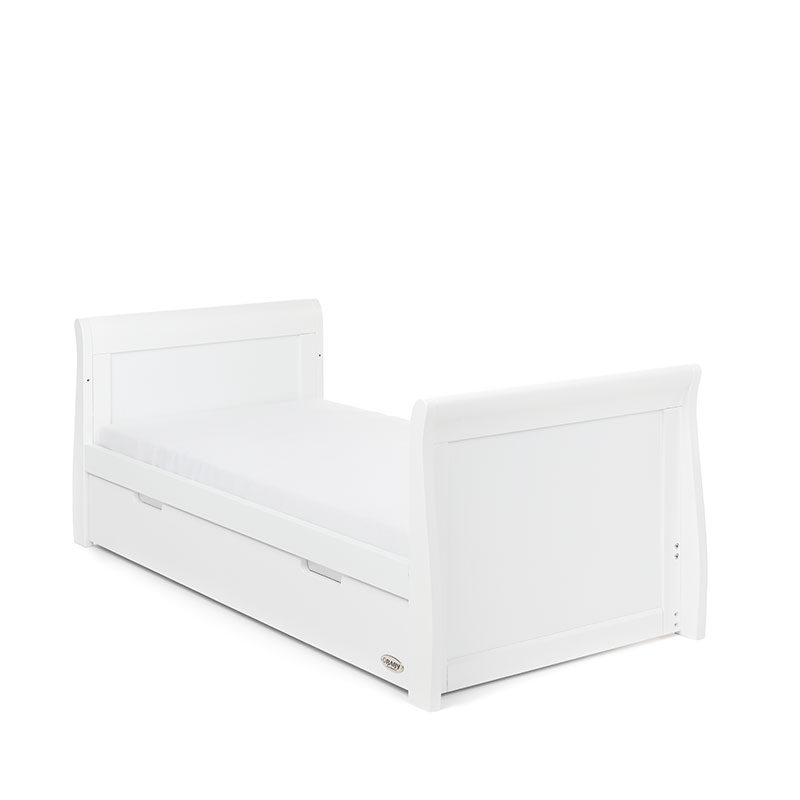 Obaby Stamford Classic Sleigh Cot Bed - White 2