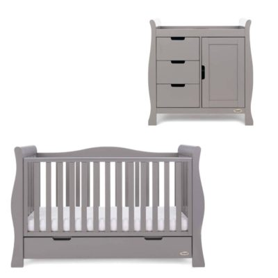 Obaby Stamford Luxe 2 Piece Room Set - Taupe Grey