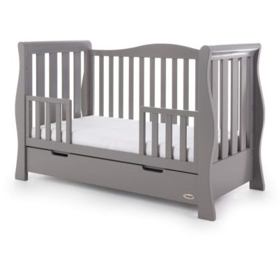 Obaby Stamford Luxe Sleigh Cot Bed - Taupe Grey 2